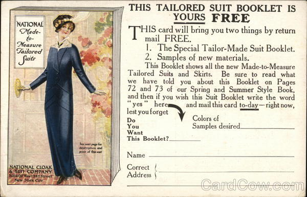 National Cloak and Suit Co. Advertising
