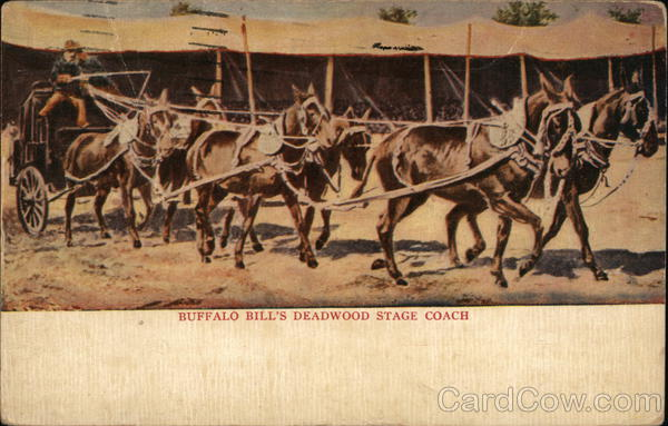 Buffalo Bill's Deadwood Stage Coach Cowboy Western
