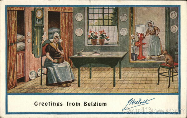 Belgium Greetings Melotte Cream Separator Advertising