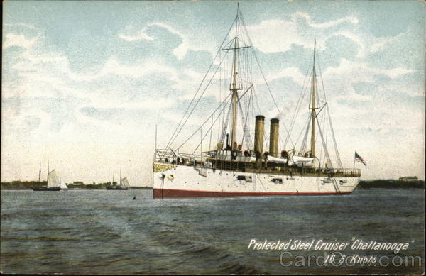 Protected Steel Cruiser Chattanooga 16.5 Knots Ships