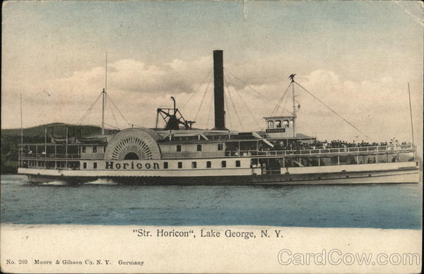 Str. Horicon, Lake George, N. Y. Boats, Ships