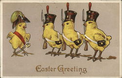 Easter Greeting - Chicks as Soldiers