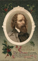 Alfred Lord Tennyson Portrait: A Merry Christmas