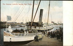 The Steamer Cabrillo leaving San Pedro, Cal.