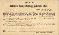 Odd Fellows' Graded Mutual Relief Association of Maine 1908
