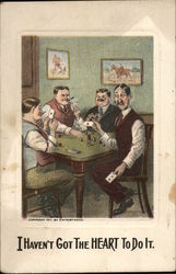 Four Men Playing Cards at a Table
