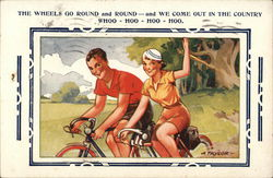 Boy and Girl Ride Bikes