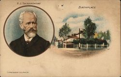 Portrait of P.J. Tschaikowsky and Birthplace