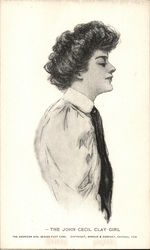 The John Cecil Clay Girl Postcard