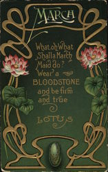 March - Bloodstone and Lotus
