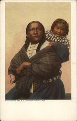 Native American Woman and Little Girl
