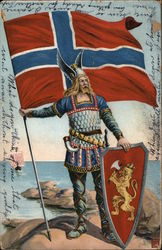 Viking with Norwegian Flag
