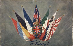 "Allied Flags - ""To Victory!"" Postcard"