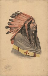 Native American with Headress