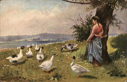Woman with Geese
