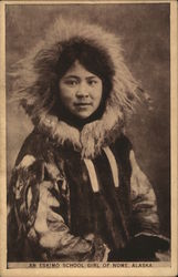 An Eskimo School Girl, Nome, Alaska Postcard