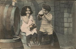 Children Having a Drink