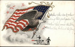 Eagle, Flag and Cannon