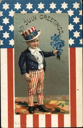 4th of July - Child Dressed in Red, White and Blue