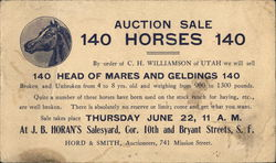 JB Horan's - Auction Sale 140 Horses Picture of a horses head in a circle