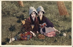 Japanese Women in Traditional Dress (Geisha?)