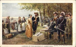 Landing of the Maidens at Jamestown