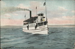 Cayuga Lake, N.Y., Steamer Iroquois, Brown Line