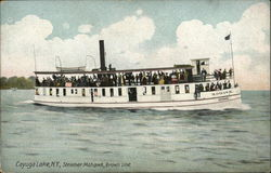 Cayuga Lake, N.Y., Steamer Mohawk, Brown Line
