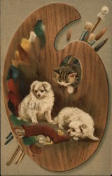 Dogs, Cats, and Artist's Pallette