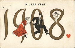 Woman Chasing Man - 1908 in Leap Year