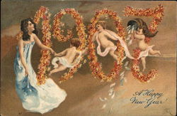 1907 in Flowers Postcard