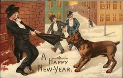 A Happy New Year, Drunks with Dog