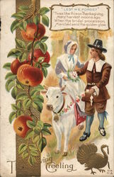 Thanksgiving Greeting-Pilgrim Wedding