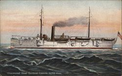 Unarmored Steel Gunboat Castine, 16,032 Knots