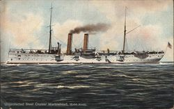 Unprotected Steel Cruiser Marblehead, 18.44 Knots