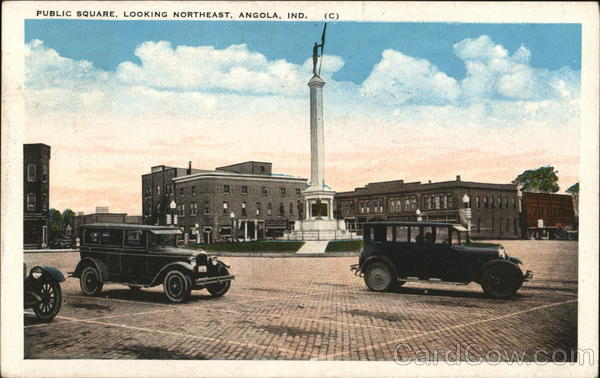 Public Square, Looking Northeast Angola Indiana
