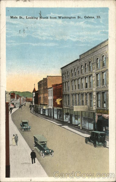 Main Street, Looking North from Washington St. Galena Illinois