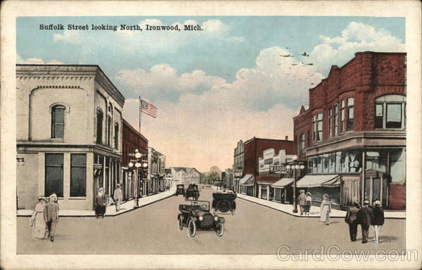 Suffolk Street Looking North Ironwood Michigan