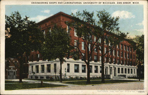 Engineering Shops and Laboratories, University of Michigan Ann Arbor