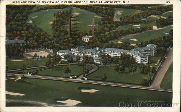 Airplane View of Seaview Golf Club Absecon New Jersey