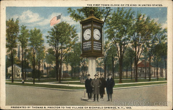 The First Town-Clock of its Kind in the United States Richfield Springs New York