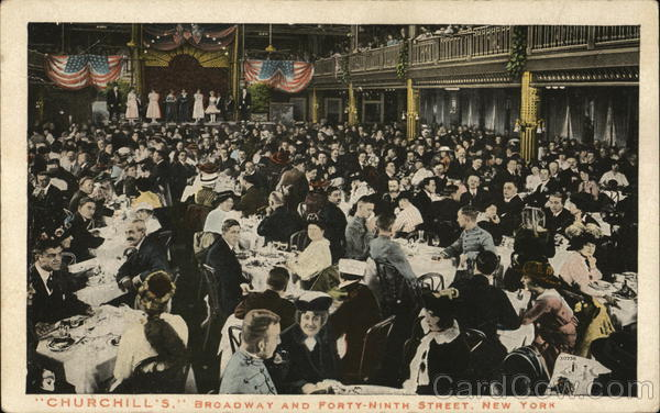 Churchill's, Broadway and Forty-Ninth Street New York