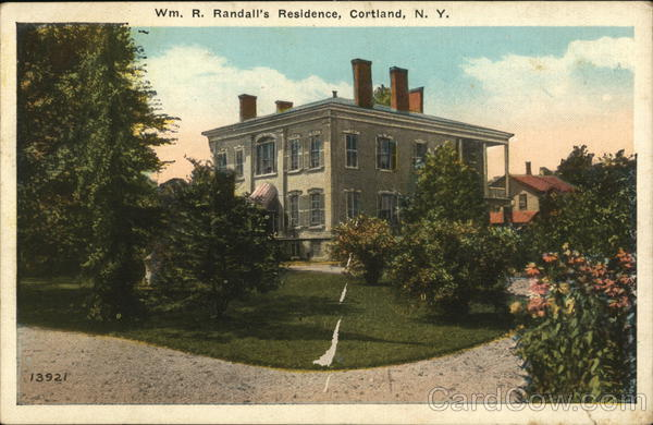 Wm. R. Randall's Residence Cortland New York