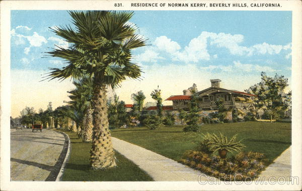 Residence of Norman Kerry Beverly Hills California