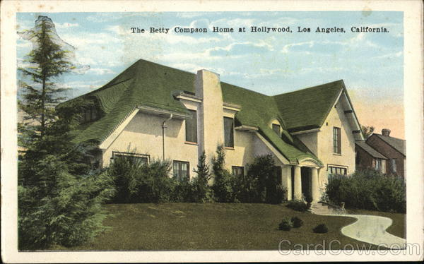 Betty Compson Home at Hollywood Los Angeles California