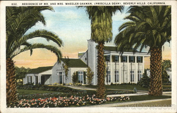 Residence of Mr. and Mrs. Oakman Beverly Hills California
