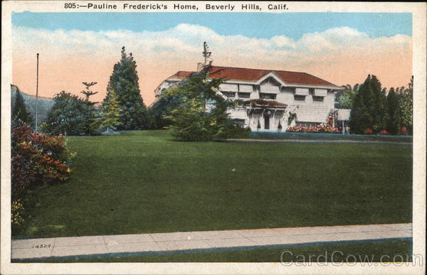 Pauline Frederick's Home Beverly Hills California