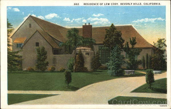 Residence of Lew Cody Beverly Hills California