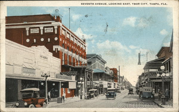 Seventh Avenue, Looking East, Ybor City Tampa Florida