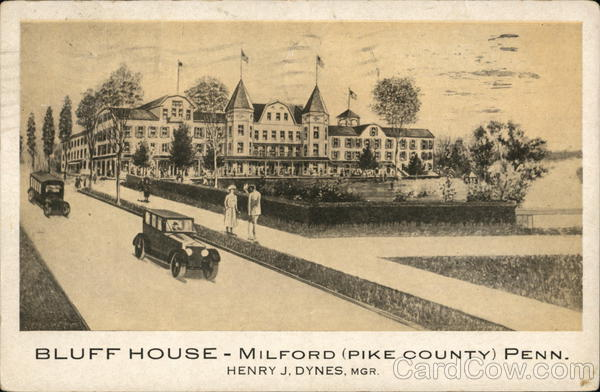 Bluff House, Pike County Milford Pennsylvania